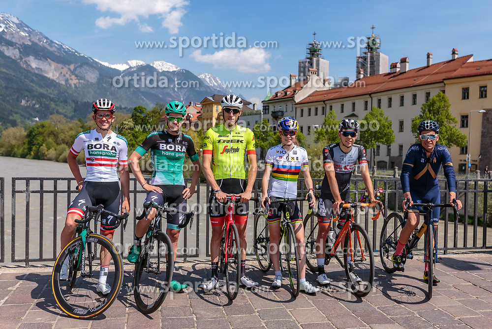 25.04.2018, Innsbruck, AUT, ÖRV Trainingslager, UCI Straßenrad WM 2018, im Bild Gregor Mühlberger (AUT), Patrick Konrad (AUT), Michael Gogl (AUT), Laura Stigger (AUT), Mario Gamper (AUT), Stefan Denifl (AUT) // during a Testdrive for the UCI Road World Championships in INNSBRUCK, Austria on 2018/04/25. EXPA Pictures © 2018, PhotoCredit: EXPA/ JFK
