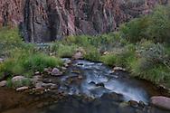 Grand Canyon National Park, Bright Angel Creek, confluence with Colorado River, Arizona
