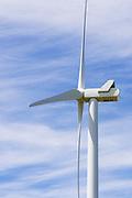 wind turbine against wispy cloud at MacArthur Wind Farm, Menhamite, Victoria, Australia <br /> <br /> Editions:- Open Edition Print / Stock Image