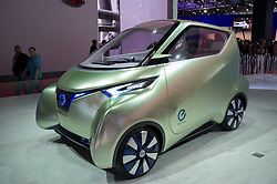 Nissan Pivo 3 electric car on display at Paris Motor Show 2012