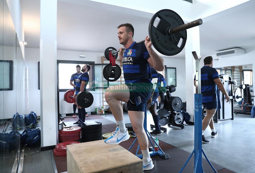November 20, 2018 - Rome, Italy - Rugby Italy training at gym - Cattolica Test Match.Braam Steyn at Giulio Onesti Sport Center in Rome, Italy on November 20, 2018. (Credit Image: © Matteo Ciambelli/NurPhoto via ZUMA Press)