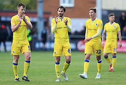 Bristol Rovers players applaud the fans - Mandatory by-line: Matt McNulty/JMP - 27/04/2019 - FOOTBALL - Highbury Stadium - Fleetwood, England - Fleetwood Town v Bristol Rovers - Sky Bet League One