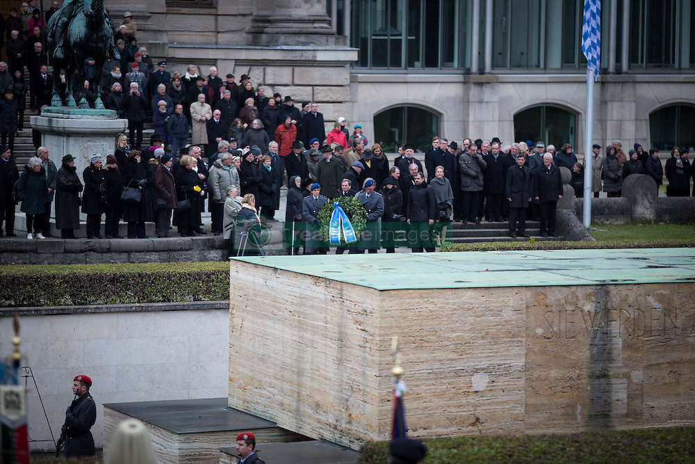 November 13, 2016 - Military, Officials and Student Fraternities hold memorial for fallen soldiers and all people killed in front of Bavarian state chancellery. (Credit Image: © Michael Trammer via ZUMA Wire)