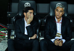 September 19, 2018 - Coach of Valencia, Marcelino, and  in action during the Champions League football match between Valencia and Juventus on September 19, 2018 at Mestalla Stadium in Valencia, Spain. (Credit Image: © AFP7 via ZUMA Wire)
