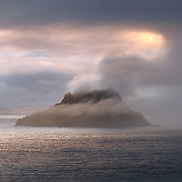 Mystical Skellig Michael, County Kerry, Ireland<br /> <br /> ...The South Peak is hidden in a blanket of mist ****** <br /> <br /> Visit & browse through my Photography & Art Gallery, located on the Wild Atlantic Way & Skellig Ring between Waterville and Ballinskelligs (Skellig Coast R567), only 3 minutes from the main Ring of Kerry road.<br /> https://goo.gl/maps/syg6bd3KQtw<br /> <br /> ******<br /> <br /> Contact: 085 7803273 from an Irish mobile phone or +353 85 7803273 from an international mobile phone