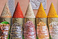 Spice stall in Marrakech, Morocco.