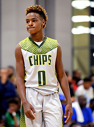 July 21, 2017 - Charlotte, NC, USA - LeBron James Jr. during youth tournament action at the Charlotte Convention Center in Charlotte, N.C., on Friday, July 21, 2017. (Credit Image: © Jeff Siner/TNS via ZUMA Wire)