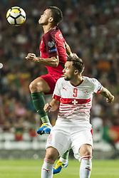 October 10, 2017 - Lissabon, Portugal - Lissabon, 10.10.2017, Fussball WM Qualifikation, Portugal - Schweiz, Pepe (POR) gegen Haris Seferovic (SUI) (Credit Image: © Pascal Muller/EQ Images via ZUMA Press)