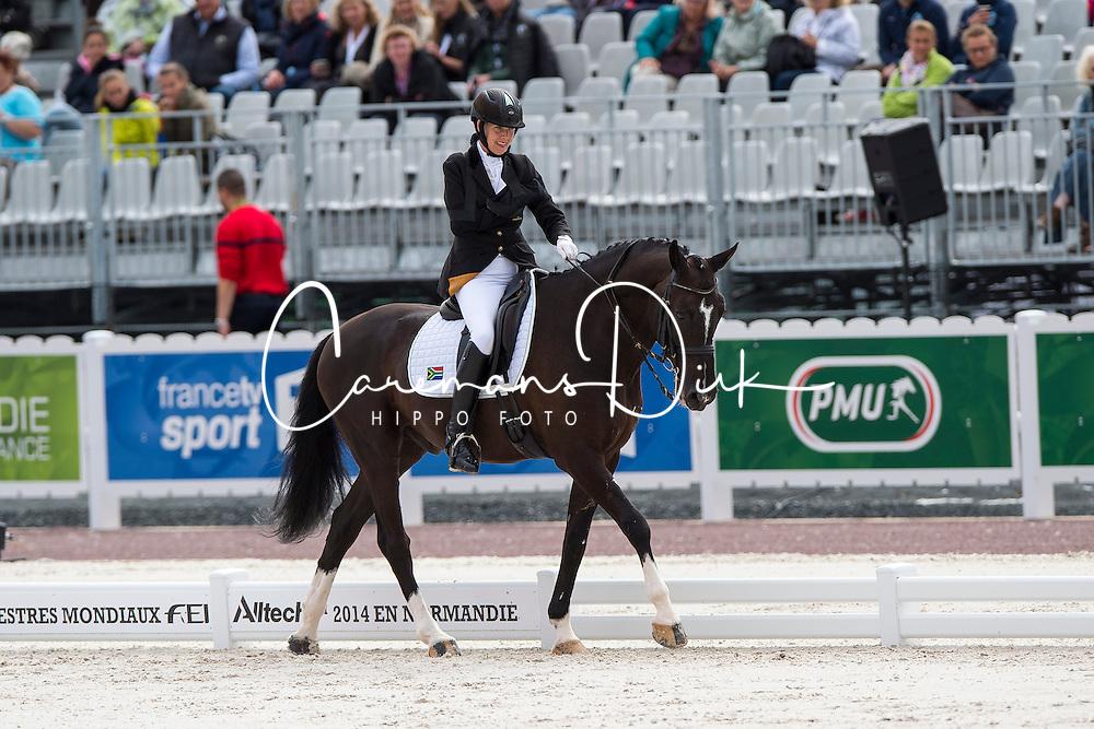 Philippa Johnson Dwyer, (RSA), Verdi - Individual Test Grade IV Para Dressage - Alltech FEI World Equestrian Games™ 2014 - Normandy, France.<br /> © Hippo Foto Team - Jon Stroud <br /> 25/06/14