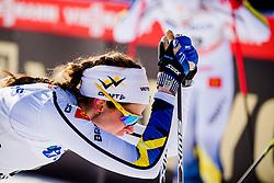 March 16, 2018 - Falun, SVERIGE - 180316 Anna Dyvik, Sverige deppar efter  semifinalen i sprint under Svenska Skidspelen den 16 mars 2018 i Falun  (Credit Image: © Simon HastegRd/Bildbyran via ZUMA Press)
