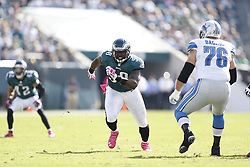Philadelphia Eagles defensive end Trent Cole (58) during the NFL game between the Detroit Lions and the Philadelphia Eagles on Sunday, October 14th 2012 in Philadelphia. The Lions won 26-23 in Overtime. (Photo by Brian Garfinkel)