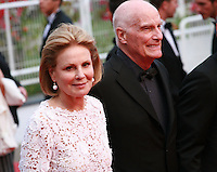 Actress Marthe Keller and Director Barbet Schroeder at the gala screening for the film Sicario at the 68th Cannes Film Festival, Tuesday May 19th 2015, Cannes, France.
