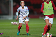 Jordan Nobbs (England) warming up before the International Friendly match between England Women and France Women at the Keepmoat Stadium, Doncaster, England on 21 October 2016. Photo by Mark P Doherty.