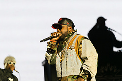 "© Licensed to London News Pictures. 05/09/2014. Isle of Wight, UK. Outkast performing live at Bestival 2014 Day 2 Friday.  In this picture - Antwan ""Big Boi"" Patton.  Outkast are a hip hop duo consisting of rappers André ""André 3000"" Benjamin and Antwan ""Big Boi"" Patton.  This weekend's headliners include Chic featuring Nile Rodgers, Foals and Outcast.   Bestival is a four-day music festival held at the Robin Hill country park on the Isle of Wight, England. It has been held annually in late summer since 2004.    Photo credit : Richard Isaac/LNP"