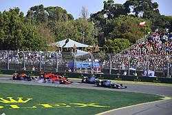 March 17, 2019 - Melbourne, Australia - Motorsports: FIA Formula One World Championship 2019, Grand Prix of Australia, .. Start, #77 Valtteri Bottas (FIN, Mercedes AMG Petronas Motorsport), #44 Lewis Hamilton (GBR, Mercedes AMG Petronas Motorsport), #5 Sebastian Vettel (GER, Scuderia Ferrari Mission Winnow), #16 Charles Leclerc (MCO, Scuderia Ferrari Mission Winnow), #33 Max Verstappen (NLD, Aston Martin Red Bull Racing) (Credit Image: © Hoch Zwei via ZUMA Wire)