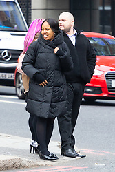 """Nathan Wyatt leaves Westminster Magistrates Court with his partner Kelley Howell after attending an extradition hearing where the United States accuse him of being part of the """"Dark Overlord"""" cyber hacking group that is alleged to have attempted to blackmail US healthcare providers. LONDON, January 10 2019."""