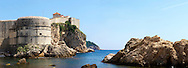 Stock photos of The medieval city walls of Dubrovnik - Croatia. .<br /> <br /> Visit our MEDIEVAL PHOTO COLLECTIONS for more   photos  to download or buy as prints https://funkystock.photoshelter.com/gallery-collection/Medieval-Middle-Ages-Historic-Places-Arcaeological-Sites-Pictures-Images-of/C0000B5ZA54_WD0s