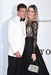 Antonio Banderas and Nicole Kimpel attending the 26th amfAR Gala held at Hotel du Cap-Eden-Roc during the 72nd Cannes Film Festival. Picture credit should read: Doug Peters/EMPICS