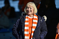 Blackpool fan in the crowd during the EFL Sky Bet League 1 match between Portsmouth and Blackpool at Fratton Park, Portsmouth, England on 24 February 2018. Picture by Adam Rivers.