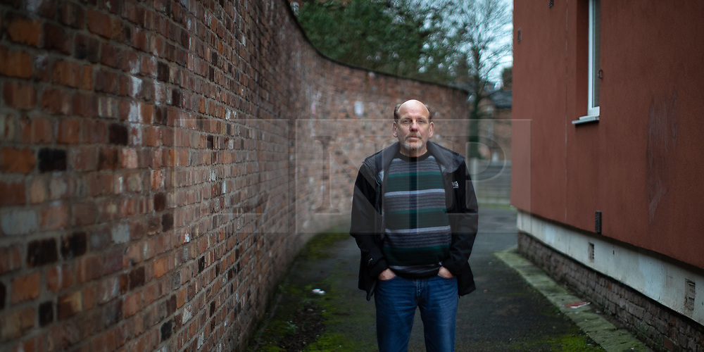 © Licensed to London News Pictures . 02/03/2019. Manchester , UK . ALAN BENNETT stands on the street outside the house where he and his brother Keith Bennett grew up and where they lived at the time of Keith's abduction and murder . Moors Murderer Ian Brady and his accomplice Myra Hindley died without revealing the location of Keith's burial and Alan is campaigning to have suitcases , currently held by Brady's solicitor , opened to the police , in the hope their contents will reveal the location of his brother's burial . Photo credit : Joel Goodman/LNP
