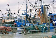 Engeland, Reye, 5-10-1997Vissersschepen liggen in de haven . Visserij,vissersvloot,vissersschip,vissersschepen,kotter,vissers,visserijrechten,vangstquotum .Foto: Flip Franssen