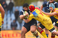 USA player Titi lamositele gets tackled in the first half during the November Test match between Romania and USA at Ghencea Stadium, Bucharest, Romania on 17 November 2018.