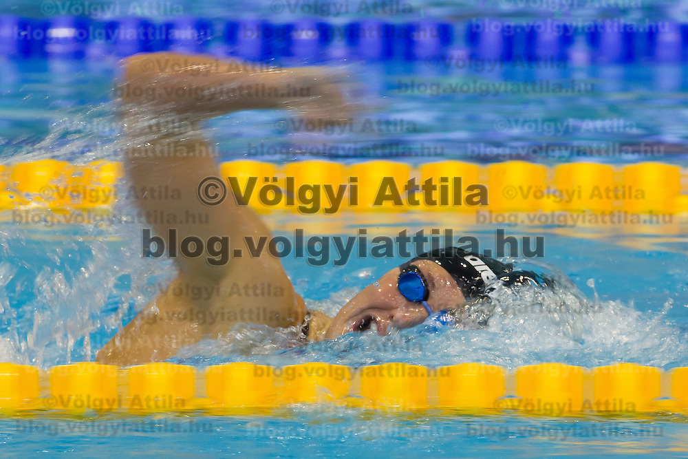 Katinka Hosszu of Hungary competes during the Women's 400m Individual Medley final of the 31th European Swimming Championships in Debrecen, Hungary on May 21, 2012. ATTILA VOLGYI