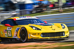 March 14, 2019 - Sebring, Etats Unis - 63 CORVETTE RACING (USA) CHEVROLET CORVETTE C7R GTE PRO JAN MAGNUSSEN (DNK) ANTONIO GARCIA (ESP) MIKE ROCKENFELLER  (Credit Image: © Panoramic via ZUMA Press)