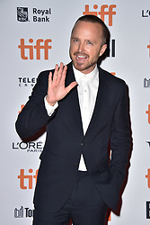 Aaron Paul attends the American Women screening held at the Princess of Wales Theatre during the Toronto International Film Festival in Toronto, Canada on September 9th, 2018. Photo by Lionel Hahn/ABACAPRESS.com