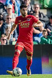 Alireza Jahanbakhsh of AZ during the Dutch Eredivisie match between FC Groningen and AZ Alkmaar at Noordlease stadium on October 15, 2017 in Groningen, The Netherlands