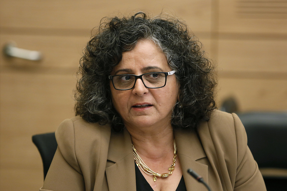 Arab-Israeli lawmaker, Member of the Knesset Aida Touma-Suleiman at the Knesset, Israel's parliament in Jerusalem, on October 26, 2015.