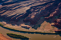 Airstrip and resort with rooms blasted into the rock on the Colorado River