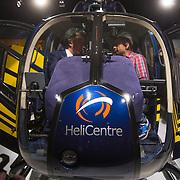 NLD/Amsterdam /20131212 - Vipnight Master of LXRY 2013 opening, Yves Gijrath word geinterviewd door POWnews in een helicopter