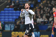 Bolton Wanderers Midfielder, James Henry (24) misses  during the The FA Cup 3rd round match between Bolton Wanderers and Crystal Palace at the Macron Stadium, Bolton, England on 7 January 2017. Photo by Mark Pollitt.