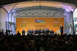 O prefeito de Porto Alegre, José Fortunati durante cerimônia de inauguração do aeromóvel, que interliga a estação da Trensurb ao Aeroporto Salgado Filho, em Porto Alegre (RS). FOTO: Jefferson Bernardes/Preview.com
