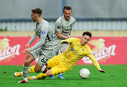 Michael Pavlovic of Olimpija vs Andraž Zinic of Domzale during football match between NK Domzale and NK Olimpija in 32nd Round of Prva liga Telekom Slovenije 2020/21, on May 5, 2021 in Sports park Domzale, Slovenia. Photo by Vid Ponikvar / Sportida