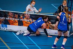 Jolijn de Haan of Sliedrecht Sport in action in the first league match in the corona lockdown between Talentteam Papendal vs. Sliedrecht Sport on January 09, 2021 in Ede.