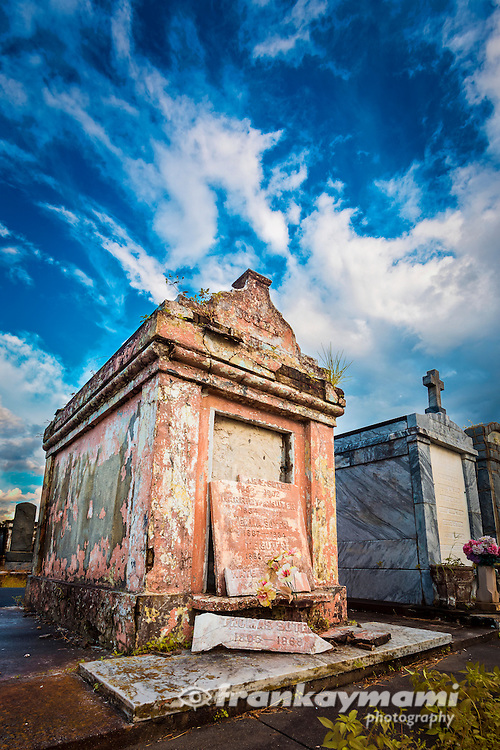 Full Spectrum color images of tombs at Greenwood Cemetery in New Orleans, LA