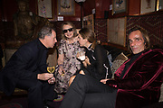 LORD SNOWDON; NINA CAMPBELL, MARK REYNIE, Pedro Girao of Christies and Duncan Macintyre of Lombard Odier host the last dinner at the Old Annabels. 44 Berkeley Sq. London. 15 November 2018