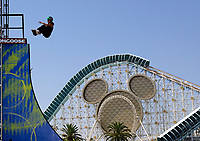 """Jul 01, 2003; Anaheim, California, USA; Professional In-Line Female skater FABIOLA DA SILVA performs live at Disney's California Adventure """"X Games Experience"""".  Disney park has built two X-Arena's specifically for this 41 day event highlighting extreme sports for the launch of the 2003 ESPN X Games.<br />Mandatory Credit: Photo by Shelly Castellano//Icon SMI<br />(©) Copyright 2003 by Shelly Castellano"""