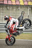 Emilio Zamora , Stuntman for Ducati during a show in Shanghai / For Ducati Asia Pacific