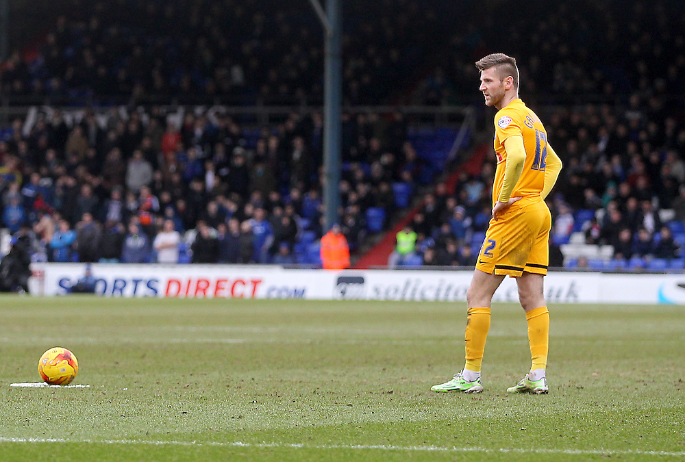 Preston North End's Paul Gallagher<br /> <br /> Photographer Mick Walker/CameraSport<br /> <br /> Football - The Football League Sky Bet League One - Oldham Athletic v Preston North End - Saturday 28th February 2015 - SportsDirect.com Park - Oldham<br /> <br /> © CameraSport - 43 Linden Ave. Countesthorpe. Leicester. England. LE8 5PG - Tel: +44 (0) 116 277 4147 - admin@camerasport.com - www.camerasport.com