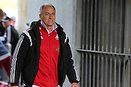 Swansea city manager Francesco Guidolin arrives at the stadium before the match. Barclays Premier league match, Swansea city v Manchester city at the Liberty Stadium in Swansea, South Wales on Sunday 15th May 2016.<br /> pic by Andrew Orchard, Andrew Orchard sports photography.