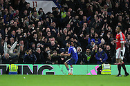 Chelsea's Diego Costa celebrates his equalising goal 1-1 during the Barclays Premier League match between Chelsea and Manchester United at Stamford Bridge, London, England on 7 February 2016. Photo by Phil Duncan.