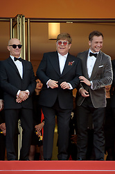 May 16, 2019 - Cannes, France - 72nd Cannes Film Festival 2019, Red Carpet film : Rocket Man.Pictured: Elton John, Taron Egerton, Bernie Taupin (Credit Image: © Alberto Terenghi/IPA via ZUMA Press)