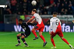 23-11-2019 NED: FC Utrecht - AZ Alkmaar, Utrecht<br /> Round 14 / Myron Boadu #9 of AZ Alkmaar, Willem Janssen #14 of FC Utrecht