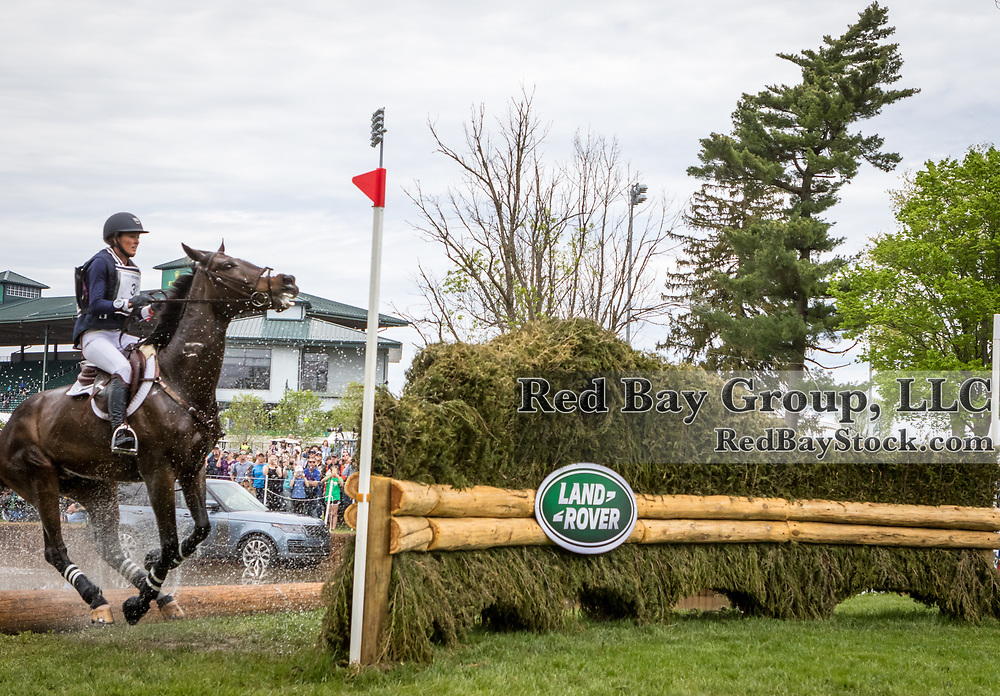 Andrea Baxter (USA) and Indy 500 during the cross-country at the 2019 Land Rover Kentucky Three-Day Event presented by MARS EQUESTRIAN in Lexington, Kentucky