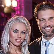 NLD/Amsterdam/20131111 - Beau Monde Awards 2013, Bas Muijs en partner Sabine Vas Nunes