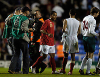 Photo: Leigh Quinnell.<br />England 'B' v Belarus. International Friendly. 25/05/2006.<br />England's Theo Walcott leaves the field.