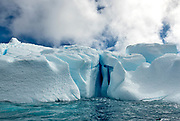 Spectacular ice formations at Astrolabe Island, Antarctic peninsula.